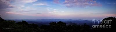Sunset On The Blue Ridge Art Print