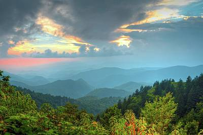 Photograph - Sunset On The Blue Ridge Parkway by Carol Montoya