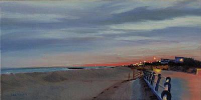 Painting - Sunset On The Boardwalk by Lea Novak