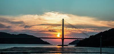 Sunset On The Bridge Art Print