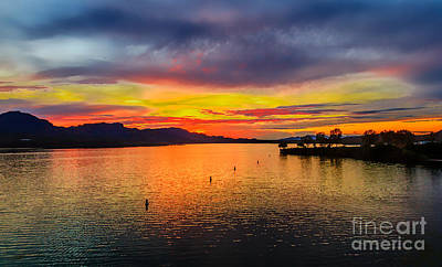 Photograph - Sunset On The Colorado River by Robert Bales