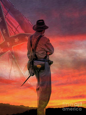 Digital Art - Sunset On The Confederacy  by Randy Steele