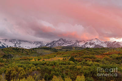 Sunset On The Dallas Divide Ridgway Colorado Art Print