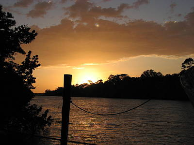 Photograph - Sunset On The Dock by April Camenisch