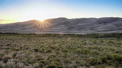 Sunset On The Dunes Art Print by Monte Stevens