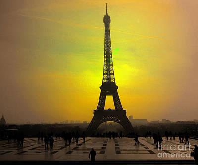 Photograph - Sunset On The Eiffel Tower by Al Bourassa