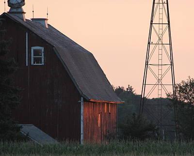 Sunset On The Farm Art Print