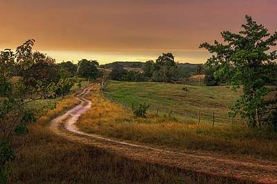 Photograph - Sunset On The Farm by Lechmoore Simms