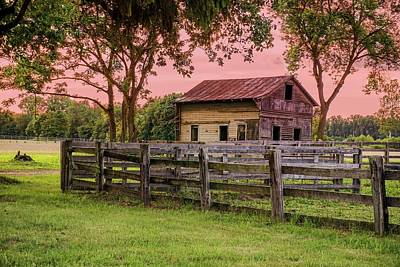 Sunset On The Farm Art Print by Mary Timman