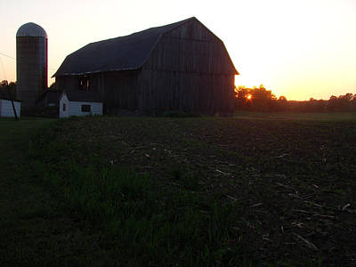 Sunset On The Farm Art Print by Todd Zabel