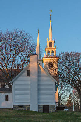 Photograph - Sunset On The First Parish Church by Brian MacLean