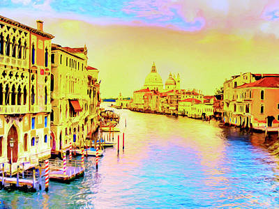 Painting - Sunset On The Grand Canal by Dominic Piperata
