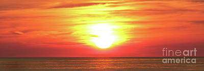 Photograph - Sunset On The Great Lakes by E B Schmidt