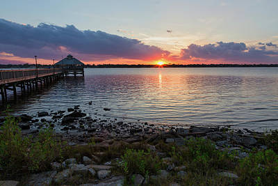 Photograph - Sunset On The Halifax River by Penny Meyers