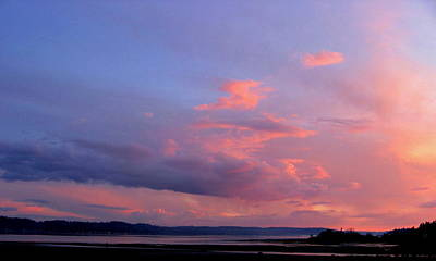 Photograph - Sunset On The Hood Canal #2 by Larry Bacon