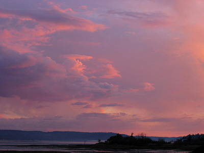 Photograph - Sunset On The Hood Canal by Larry Bacon