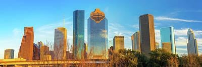 Photograph - Sunset On The Houston Skyline by Gregory Ballos