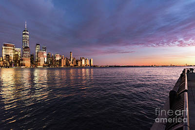 Photograph - Sunset On The Hudson River by Zawhaus Photography