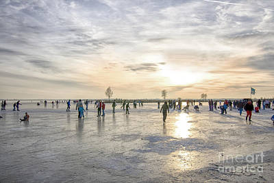 Photograph - Sunset On The Ice by Patricia Hofmeester