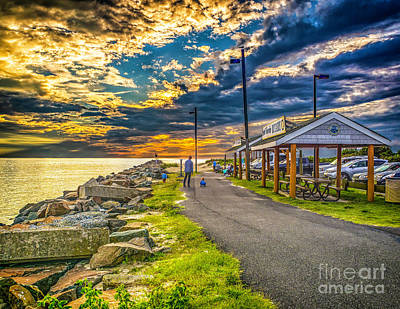 Photograph - Sunset On The Intracoastal by Nick Zelinsky