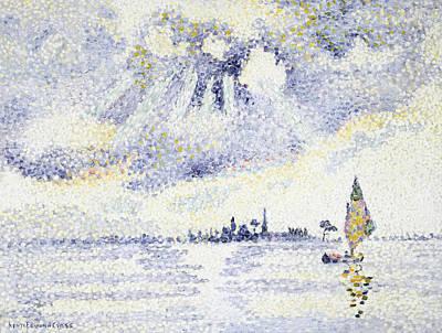 Sunset On The Lagoon, Venice Art Print by Henri-Edmond Cross