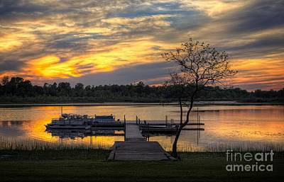 Photograph - Sunset On The Lake by Graesen Arnoff