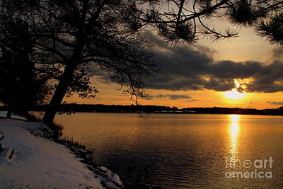 Photograph - Sunset On The Lake by Lennie Malvone