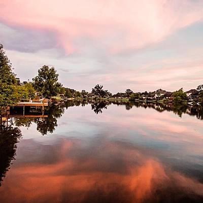 Reflection Wall Art - Photograph - Sunset On The Lake #louisiana by Scott Pellegrin
