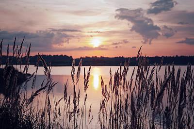 Sunset On The Lake Art Print by Natalia Romashova