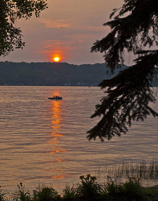 Photograph - Sunset On The Lake by Richard Engelbrecht