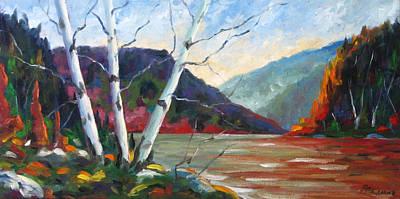 Sunset On The Lake Art Print by Richard T Pranke