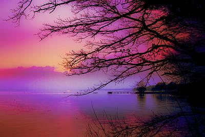 Sunset On The Lake Art Print