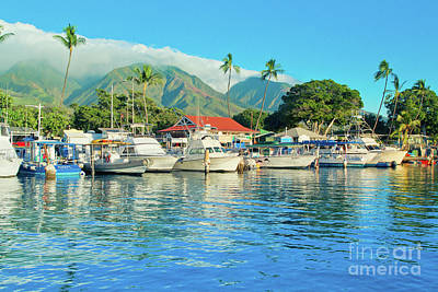 Sunset On The Marina Lahaina Harbour Maui Hawaii Art Print