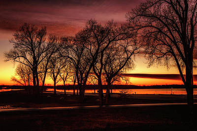 Photograph - Sunset On The Mississippi At West Alton Mo 7k_dsc1113_16-11-13 by Greg Kluempers