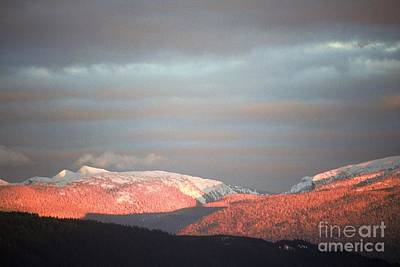 Art Print featuring the photograph Sunset On The Monashees by Victor K