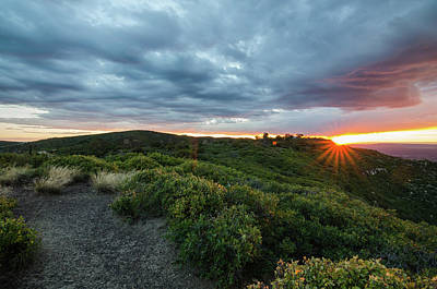 Photograph - Sunset On The Mountain by Margaret Pitcher