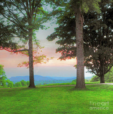 Photograph - Sunset On The Mountain  by Raymond Earley