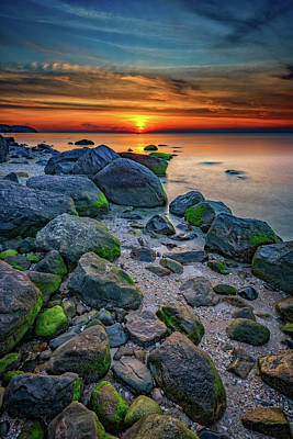 Sunset On The North Shore Of Long Island Art Print by Rick Berk