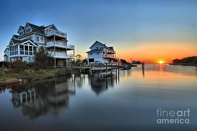 Sunset On The Obx Sound Art Print