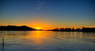 Photograph - Sunset On The Ohio River by Jonny D