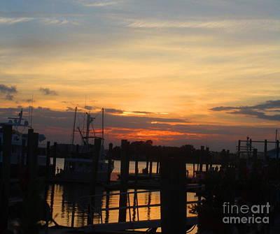 Sunset On The Outer Banks - North Carolina Coastline Art Print