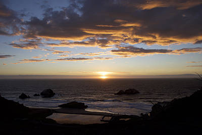 Photograph - Sunset On The Pacific by Chris Alberding