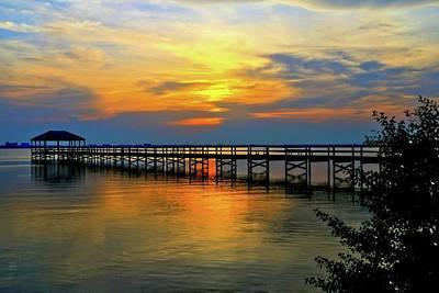 Photograph - Sunset On The Pier by Carol Montoya