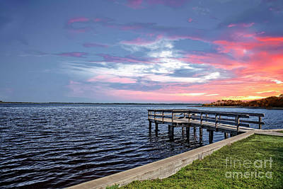 Photograph - Sunset On The Pier by Richard Burr