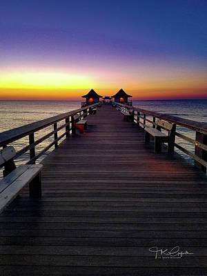 Photograph - Sunset On The Pier by TK Goforth