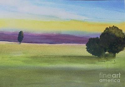 Painting - Sunset On The Plain by Penny Stroening