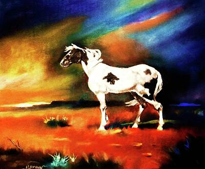 Painting - Sunset On The Plains by Al Brown