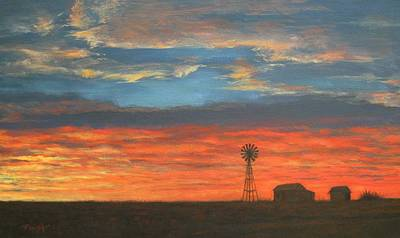 Painting - Sunset On The Plains by Gene Foust