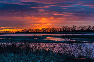 Photograph - Sunset On The Platte River by Edward Peterson