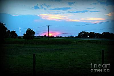 Frank J Casella Royalty-Free and Rights-Managed Images - Sunset on the Ranch  by Frank J Casella